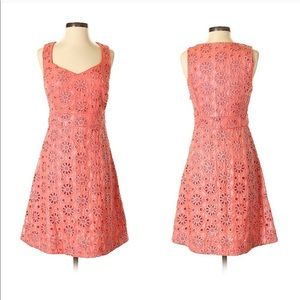 🌸Anthropologie Coral Floral Dress AS SEEN ON TV